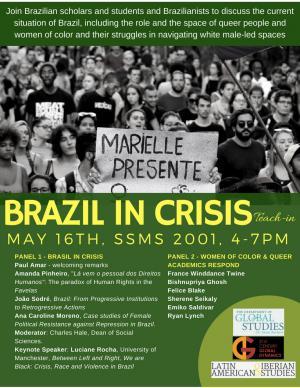 Final Poster Brazil in Crisis Teach In