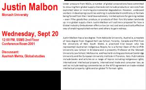 Mellichamp Global Studies Seminar