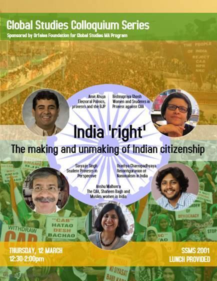 GS Colloquium March 12th India
